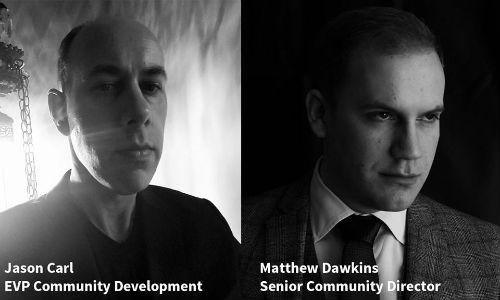 Gerentes da Comunidade White Wolf, Jason Carl e Matthew Dawkins